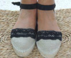 Alpargatas artesanales de lino y algodón