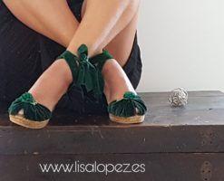 Alpargatas para novia o invitadade terciopelo Velvet. #alpargatasparanovia, #boda,#novias,#invitadaperfecta