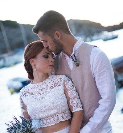 Ibiza y sus noches infinitas . La boda de Sara y Daniel