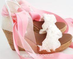 Alpargatas para novia Roses 10 cmts de Lisa Lopez