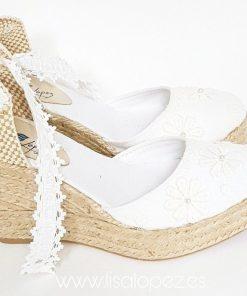 Alpargatas para novia Nicolle blanca de Lisa Lopez