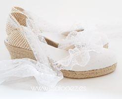 Alpargatas para novia Prescila Marbella de Lisa Lopez