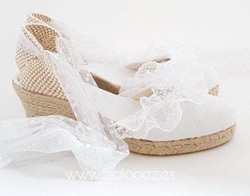 Alpargatas para novia Prescila Marbella