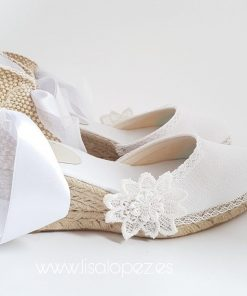 Alpargatas para novia de Lisa Lopez