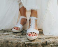 Alpargatas para novia Leo de Lisa Lopez