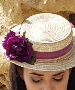 Canotier para novia o invitada de Lisa Lopez