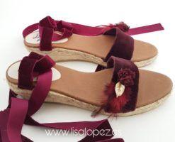 Sandalias de terciopelo para invitada de boda