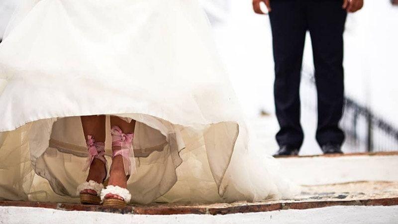 boda Madi y Jorge alpargatas