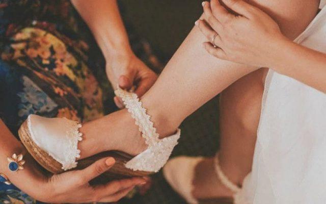 Cómo personalizar tus alpargatas de novia