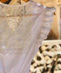 Kimono de novia Santorini