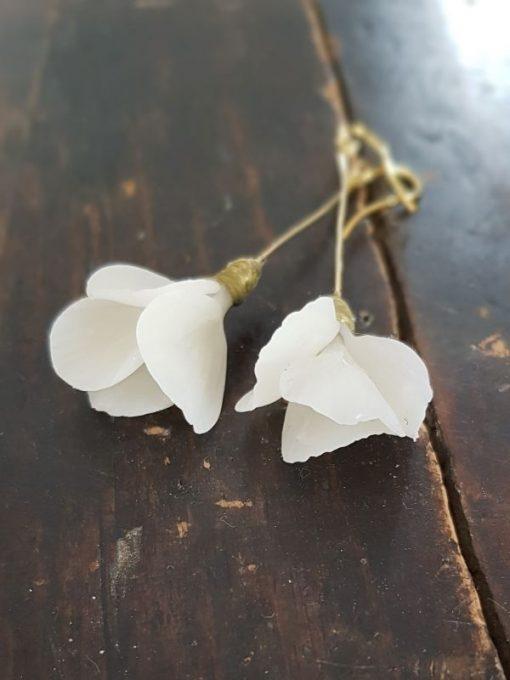 Pendientes de porcelana